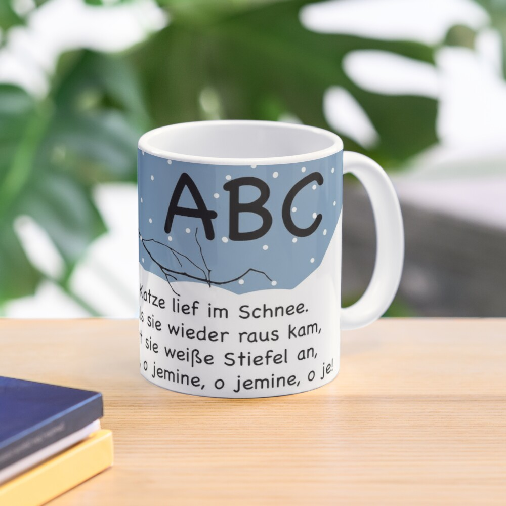 ABC, the cat ran in the snow ... nursery rhymes for fun and early childhood education Mug
