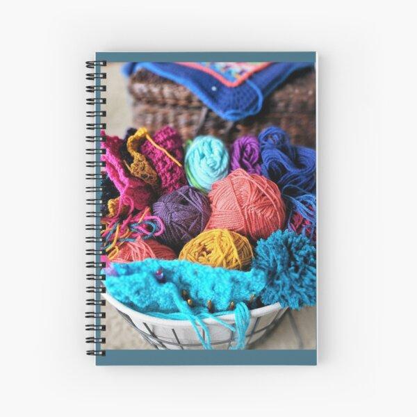 Colorful Yarn Spiral Notebook