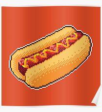 Pixel Hot Dog Poster