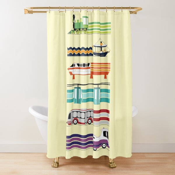 Magical Transportation  Shower Curtain