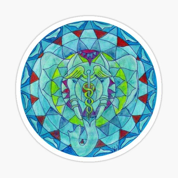 Salus health elephant mandala Sticker
