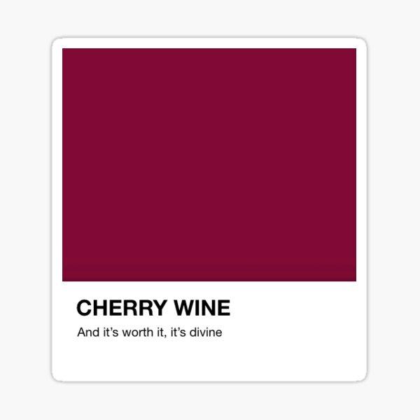 Hozier Cherry Wine Pantone Lyrics Sticker