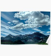Clouds over Barrier lake Poster
