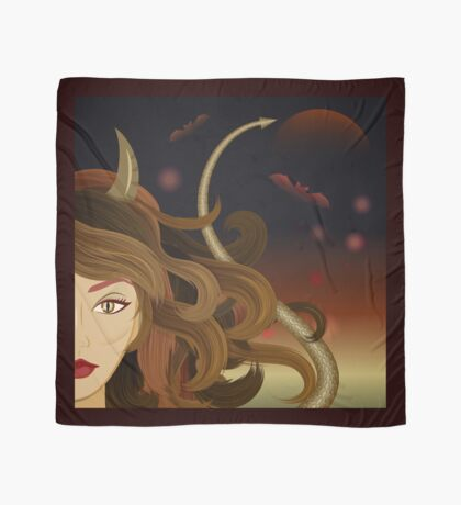 Witch devil girl Scarf