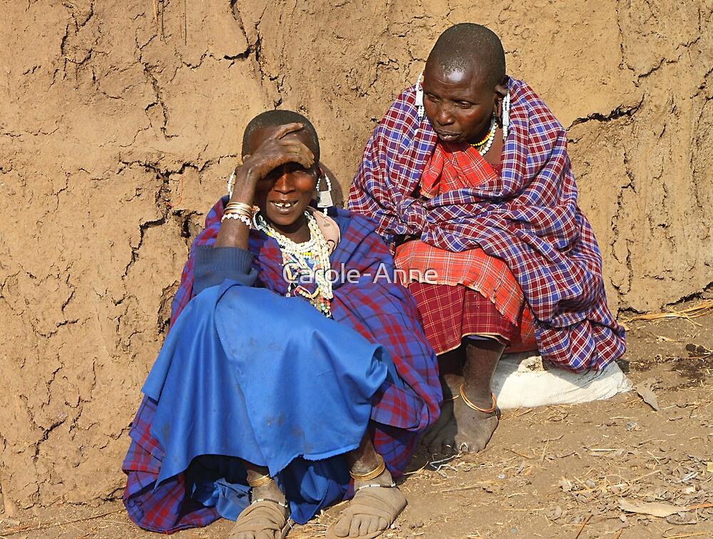 Maasai (Masai) Women Relaxing, East Africa  by Carole-Anne
