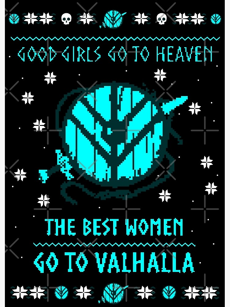 291dd77f the best women go to valhalla - ugly christmas sweater | Poster