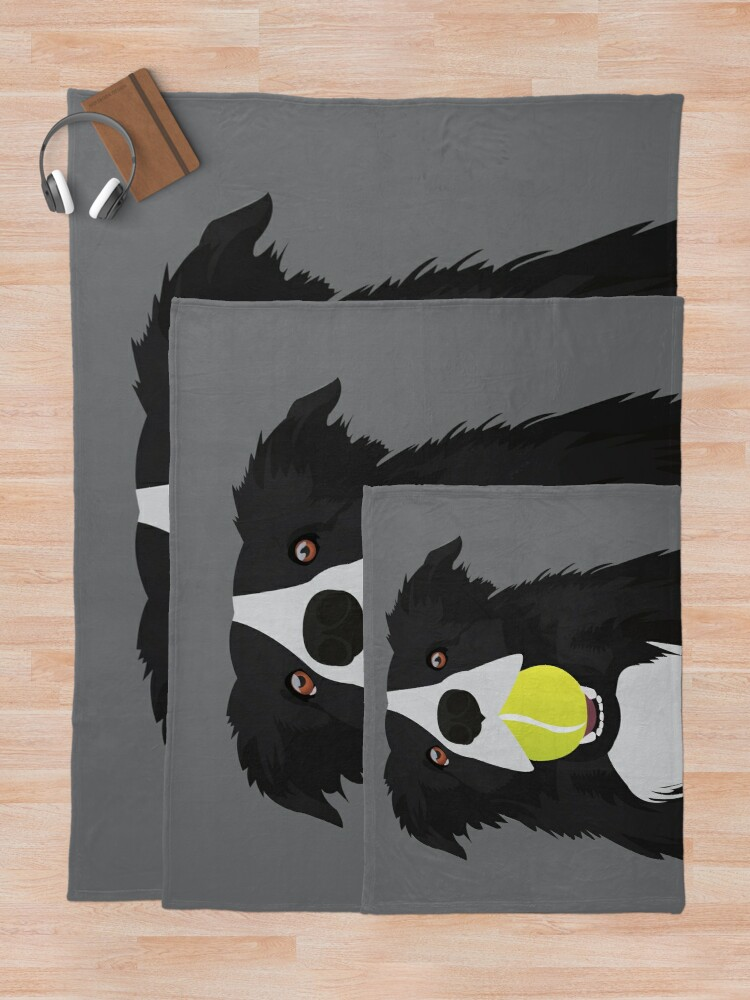 Alternate view of Border Collie with a Tennis Ball Throw Blanket