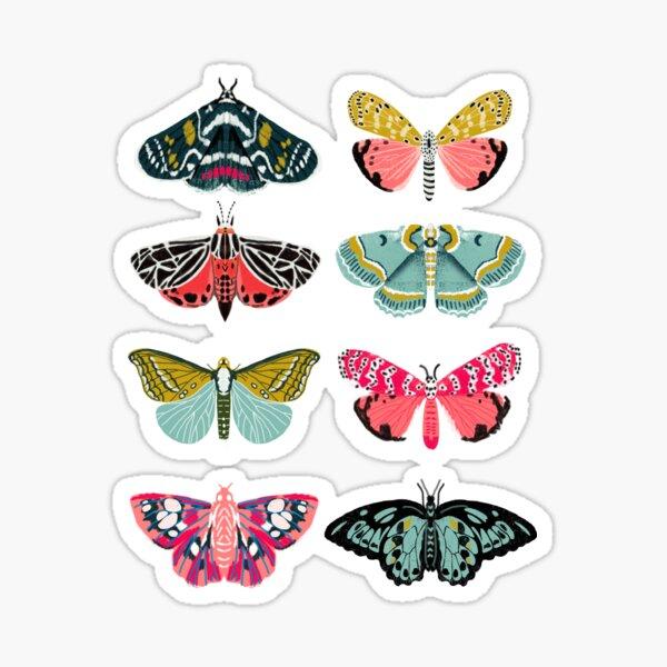 Moths and Butterflies - moth sticker pack, butterfly sticker pack, moth stickers, butterfly stickers, moth art, moth Sticker