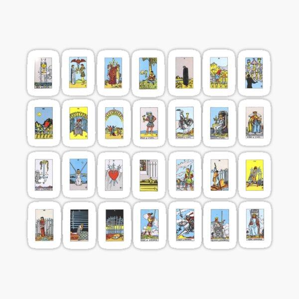Tarot Card Sticker Set - Cups and Swords Suites Sticker