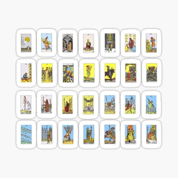 Tarot Card Sticker Set - Wands & Pentacles Suites Sticker