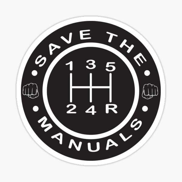Save the Manuals!!! Sticker