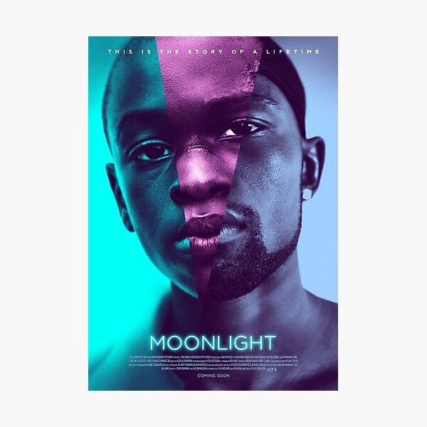 moonlight movie poster Photographic Print