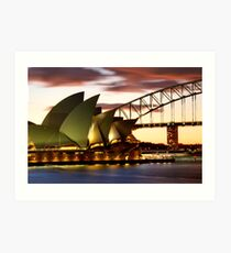 Sydney Icons Closeup Art Print