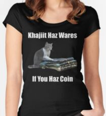 Khajiit haz wares - V.3 classic meme Women's Fitted Scoop T-Shirt