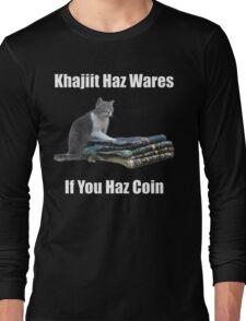Khajiit haz wares - V.3 classic meme Long Sleeve T-Shirt