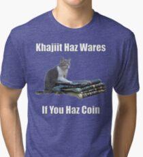 Khajiit haz wares - V.3 classic meme Tri-blend T-Shirt