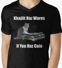 Khajiit haz wares - V.3 classic meme Men's V-Neck T-Shirt
