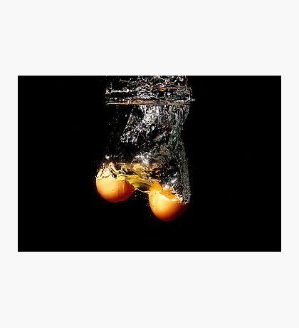 Egg Splash Photographic Print