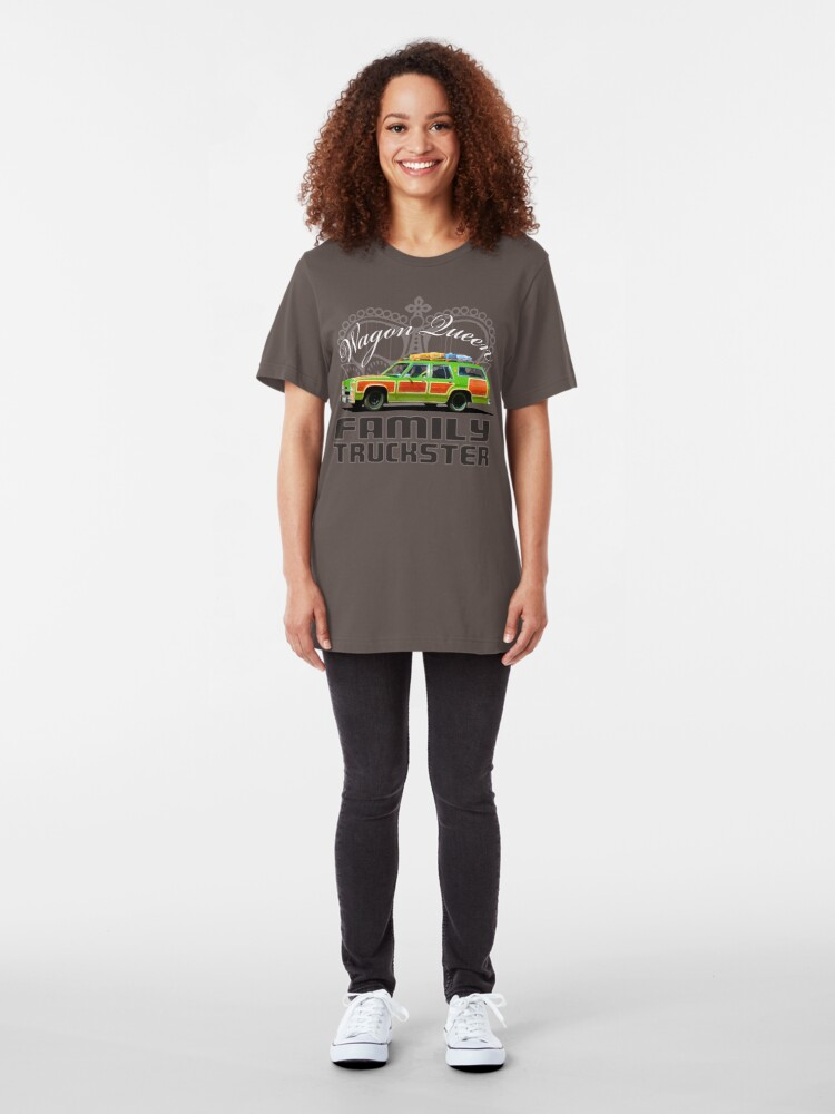 Alternate view of Wagon Queen Family Truckster Slim Fit T-Shirt