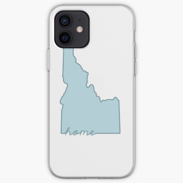 Idaho Home State Outline Blue iPhone Soft Case