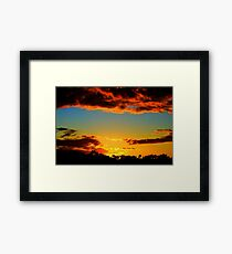 HDR Sunset Framed Print