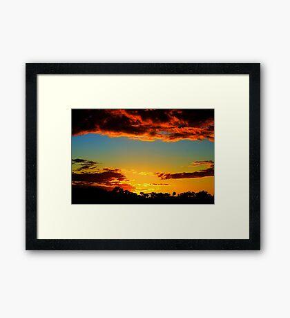 HDR Sunset Framed Print