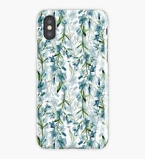 Blue branches iPhone Case