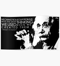 Albert Einstein Quote Poster