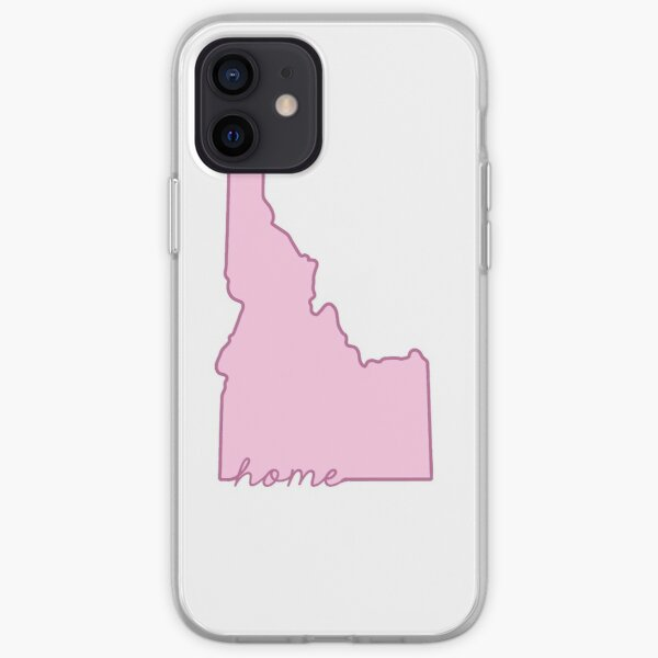 Idaho Home State Outline Pink iPhone Soft Case