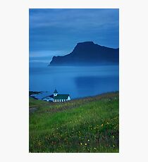 Nightime in the Faroe Islands Photographic Print