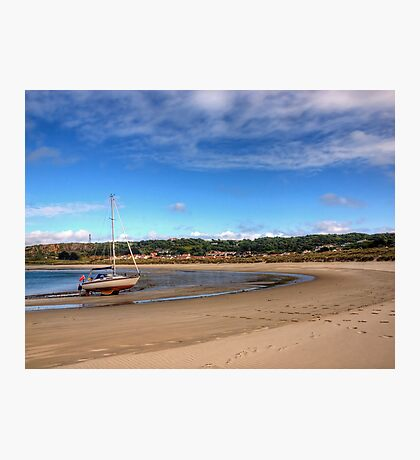 Tide out at Braye Beach - Alderney Photographic Print