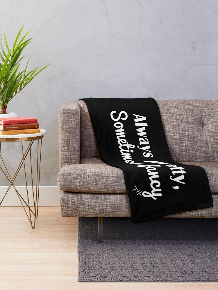 Alternate view of Sometimes Fancy Throw Blanket