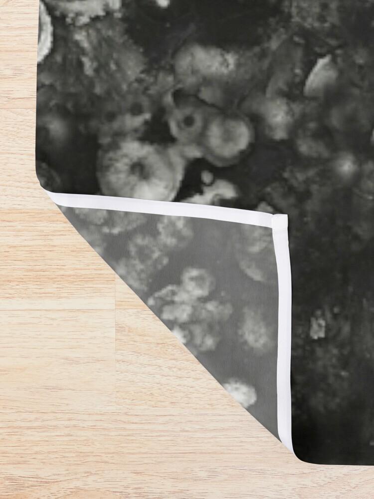 Alternate view of Black Grunge Shower Curtain