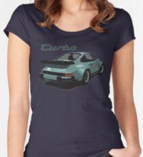 porsche, 911, turbo Women's Fitted Scoop T-Shirt