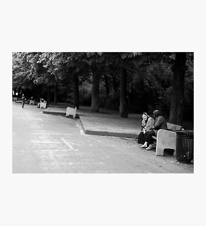 Bench moment Photographic Print
