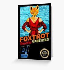 Foxtrot 8-bit Greeting Card