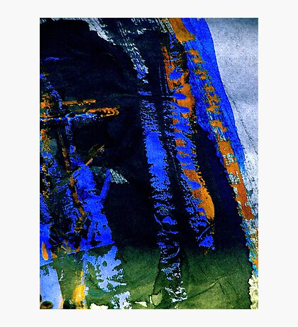 mountain.... blue tinge fall Photographic Print