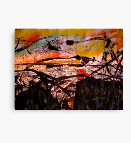 two forests... under a sunset sky Canvas Print