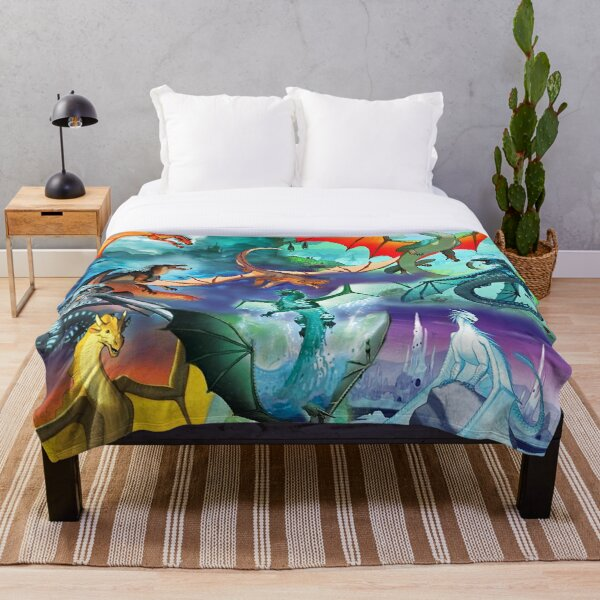 Wings of fire all dragon Series Throw Blanket