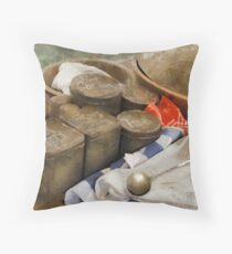 Canisters in 1860 Throw Pillow