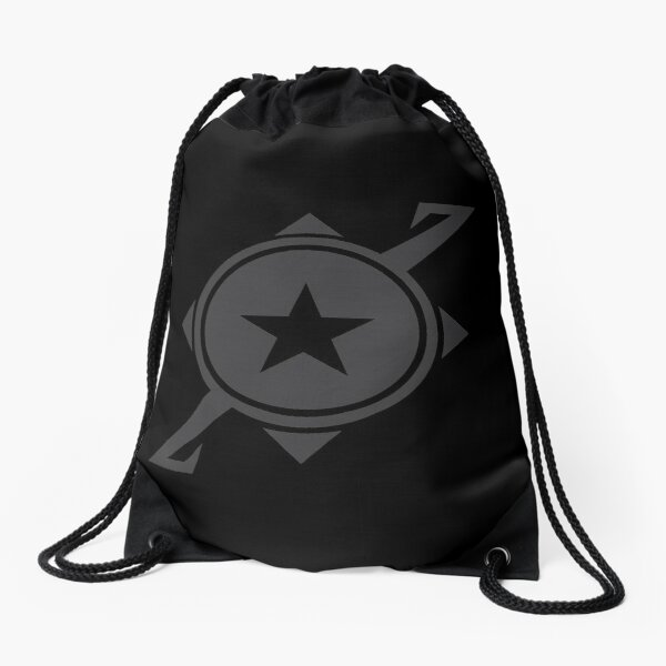 Galaxina Planet Logo - Dark Grey Drawstring Bag