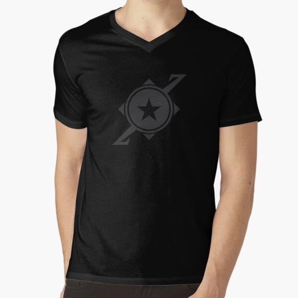 Galaxina Planet Logo - Dark Grey V-Neck T-Shirt