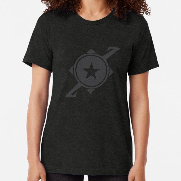 Galaxina Planet Logo - Dark Grey Tri-blend T-Shirt