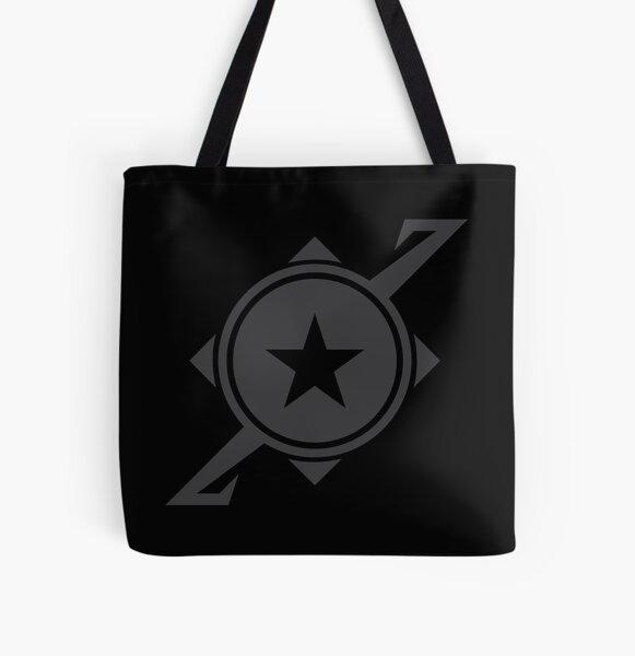 Galaxina Planet Logo - Dark Grey All Over Print Tote Bag