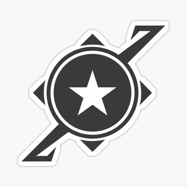 Galaxina Planet Logo - Dark Grey Sticker