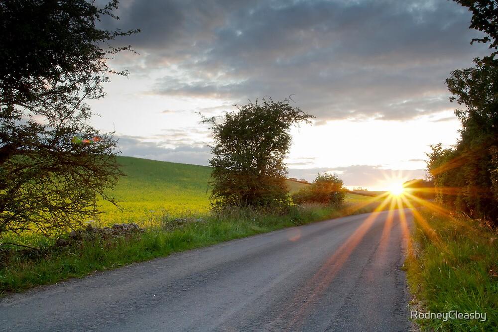 Sunset, Field Asserts, Oxfordshire, UK by RodneyCleasby