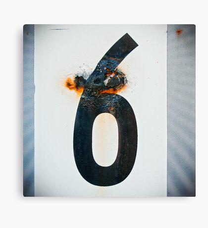 ≡6≡ Canvas Print