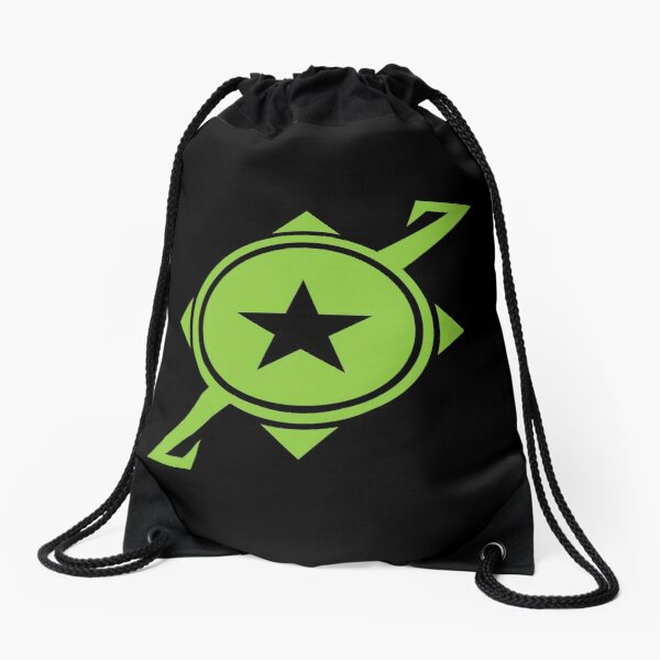 Galaxina Planet Logo - Lime Green Drawstring Bag
