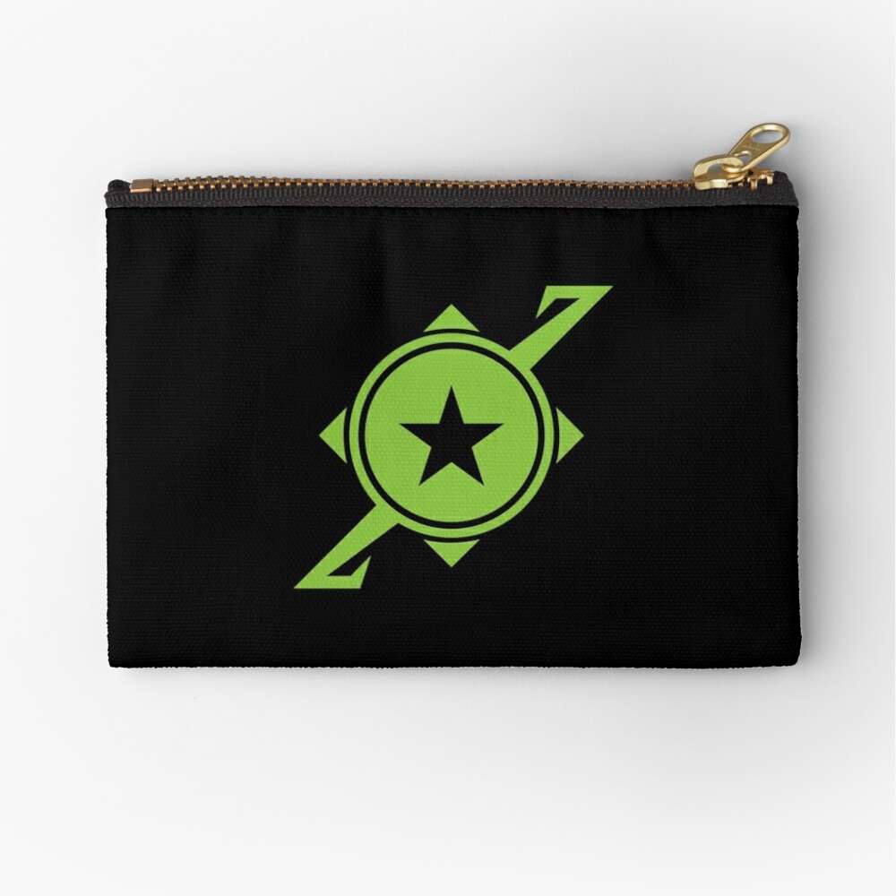 Galaxina Planet Logo - Lime Green Zipper Pouch