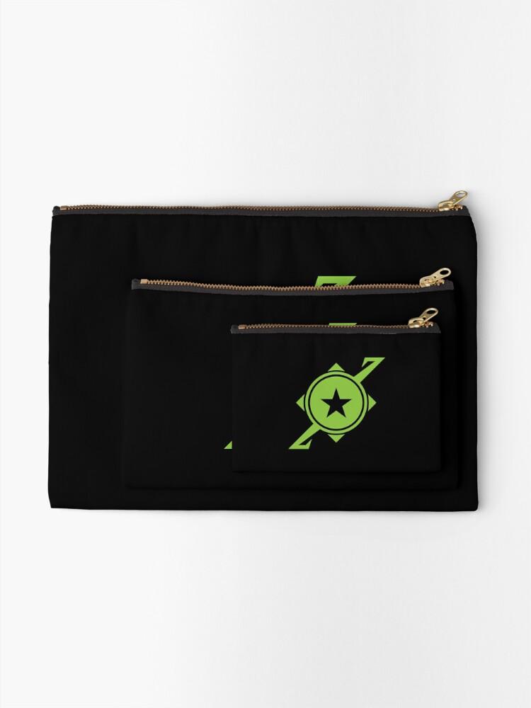 Alternate view of Galaxina Planet Logo - Lime Green Zipper Pouch